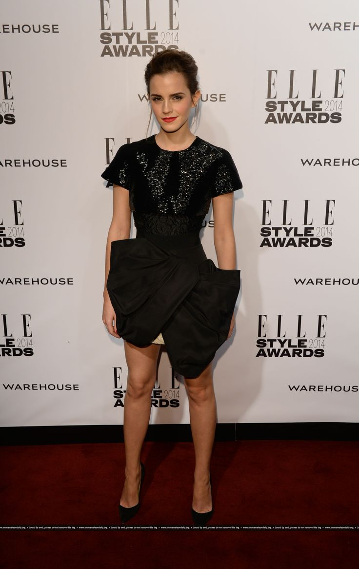 Emma Watson attends Elle Style Awards 2014 on February, 18.