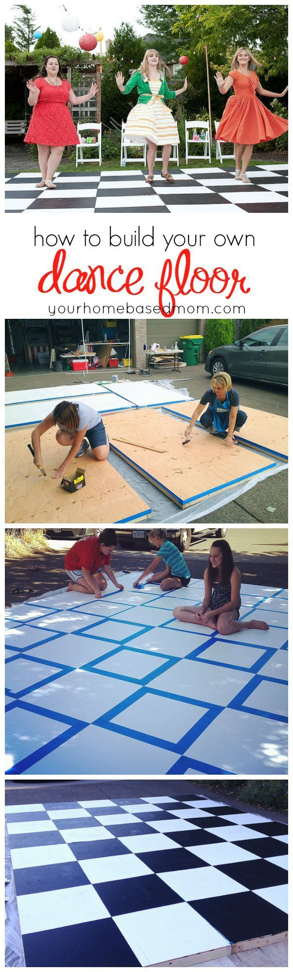 Hey, Let\u0027s Make a Dance Floor! Only $24 plus cost of paint for ...