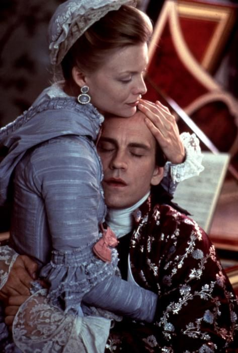 John Malkovich with Michelle Pfeiffer in Dangerous Liaisons: one of the best movies ever made