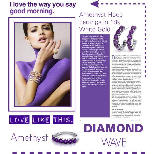 diamondwave.com -Amethyst by isatusia on Polyvore featuring moda