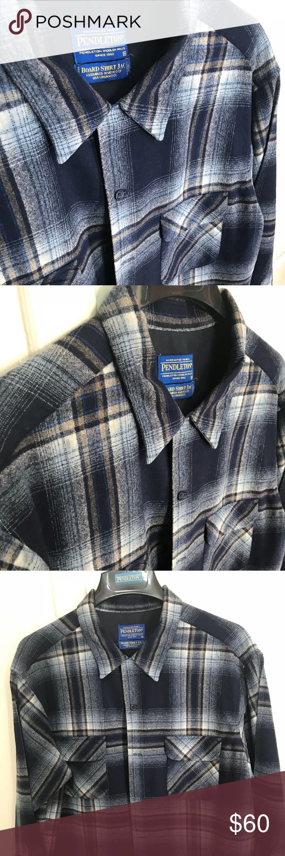 Pendleton Board Shirt XL 100% Wool Flawless shirt Pendleton Board Shirt 100% Wool size XL this shirt is extremely Clean  specs: C2C 25' S2S 21' Top2Bot 29' Cen2End of end sleeve 32-33 Please ask questions and measure your specs thank you make offers Pendleton Shirts Casual Button Down Shirts