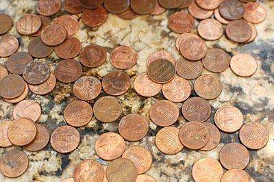 How to shine pennies! for the backsplash and penny presses!