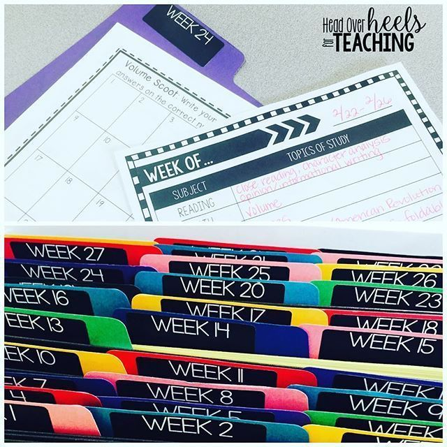 Want a head start on next year's planning? Why reinvent the wheel? I created file folders for each week and run an extra copy of any resource I use to reference next year on that week. I also jot down notes on a planning template to make planning easier t
