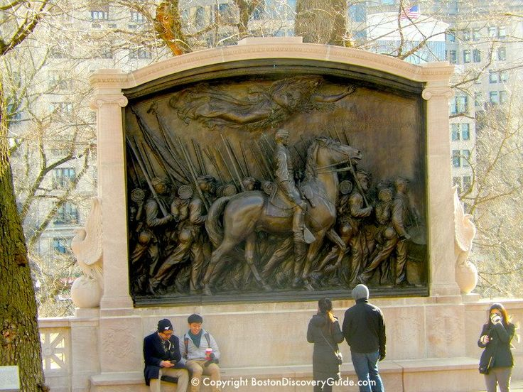 Robert Gould Shaw Memorial by Augustus Saint-Gaudens honoring Robert Gould Shaw and the Afro-American 54th Massachusetts Volunteer Infantry