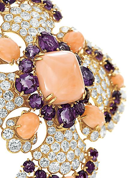 """Coral, amethyst and diamond """"Ibiza"""" sautoir by Van Cleef and Arpels"""
