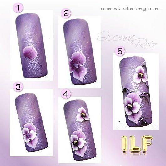 ILF PaintArts  www.ilf-store.de  #ivonne_retz #ilfnails #nailart #onestroke #naildesign #nailstagram #instanails #nails2inspire #nails #nailarttutorial