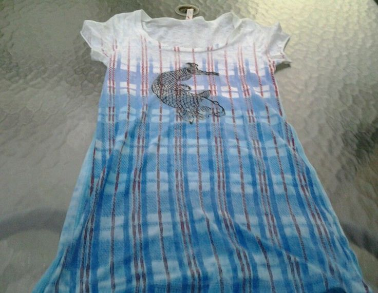 Free People By Anthropologie Coy Fish Red&Blue White Plaid Design Size Mediuml