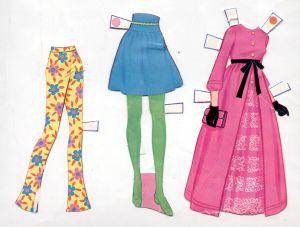 1971 Whitman - Mattel WORLD OF BARBIE paper dolls 5