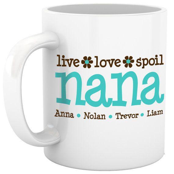 personalized coffee mug grandma nana mug custom with by zoeysattic, $18.00 @Rita Froese , want one for Christmas? :)