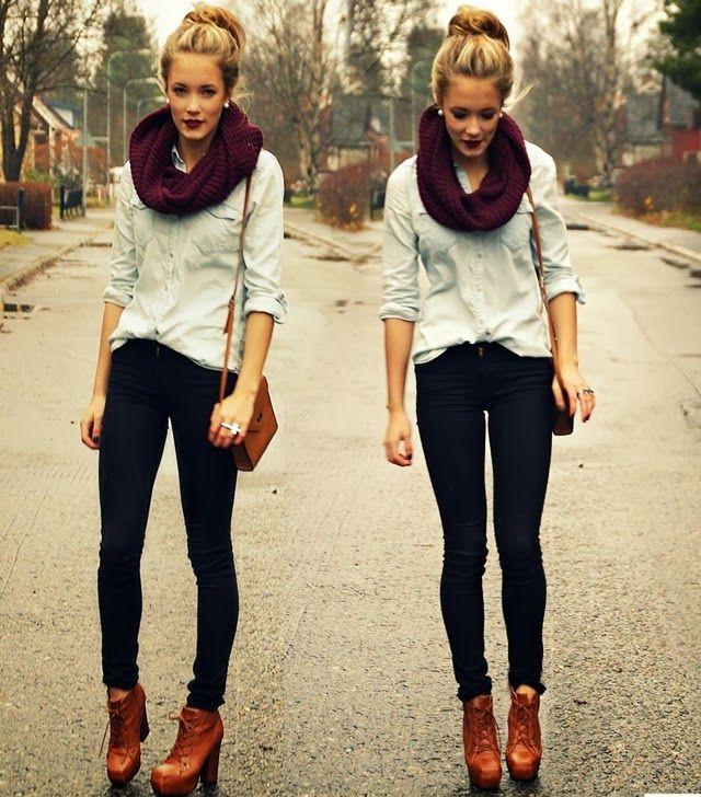 Gola cachecol linda <3 #inverno #ficarquentinho Street Style | Looks de inverno