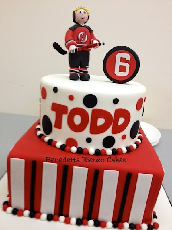 Hockey Cake Ideas | ... go Devils!! Hockey Cake - Cake Decorating Community - Cakes We Bake
