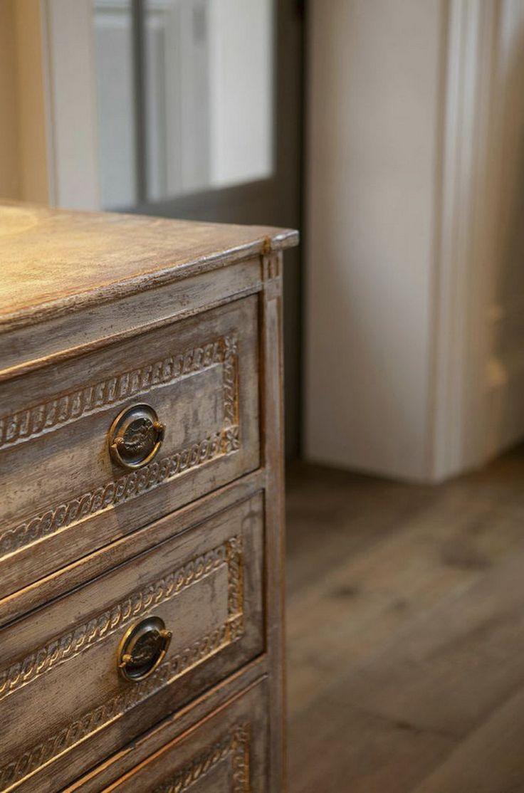 detail of a white washed commode by minnie peters my. Black Bedroom Furniture Sets. Home Design Ideas