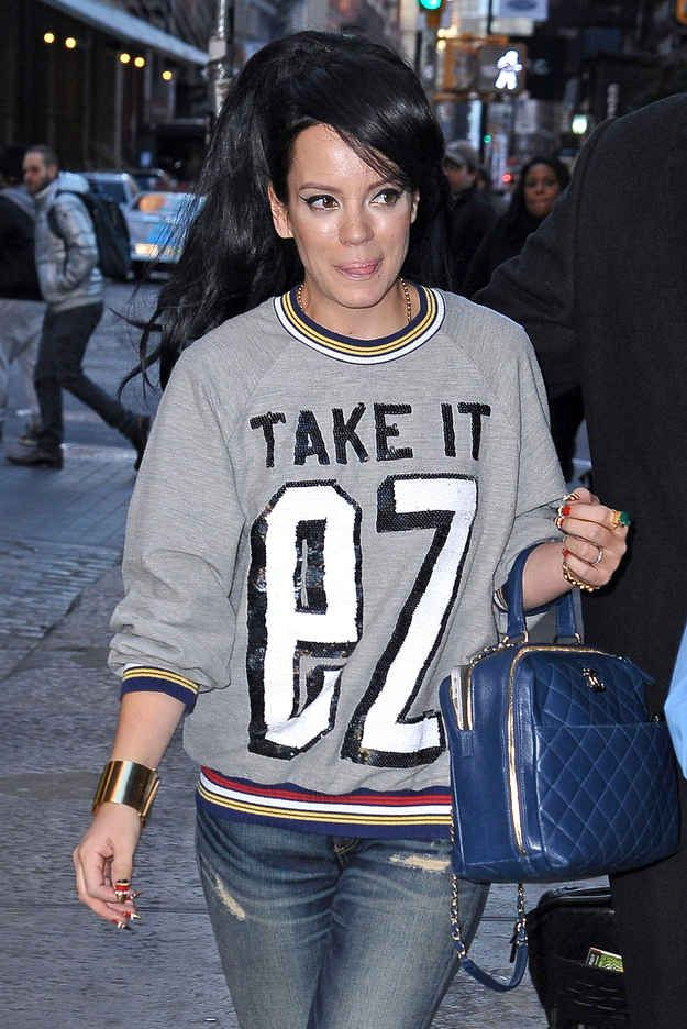 Lily Allen wore this amazing shirt