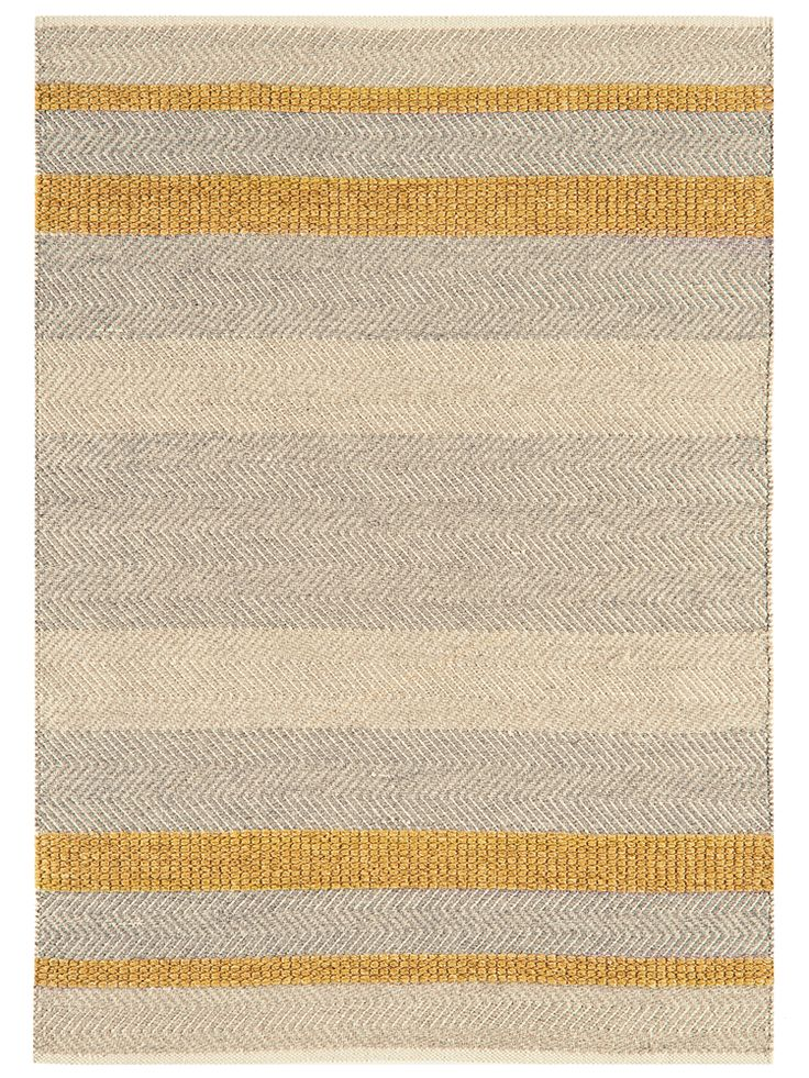 Carefully handmade from a wool, cotton and viscose blend that is both beautiful and hardwearing, our flat weave rug has a rustic, waved edge and unique details. With blended shades of grey, cream and soft mustard yellow, it adds a subtle colour accent to your room and looks perfect on wooden, stone or laminate flooring.  Also available in flint, blue and forest green.    This product is not available for Next Day Delivery in the UK and due to the size and weight of this item in Medium and…