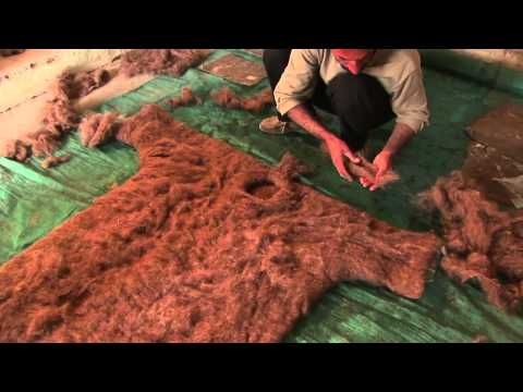Felt Flower Designs - YouTube.  ...... Very good and very interesting video on making felt clothing. DK