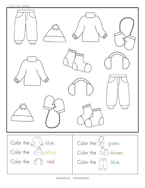 winter clothes sort categorizing centers and printables for preschool winter pinterest. Black Bedroom Furniture Sets. Home Design Ideas