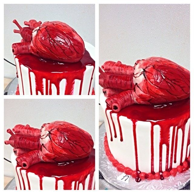 Anatomical Heart Cake In 2019 Halloween Cakes Medical