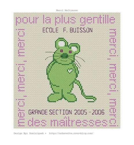 animaux - animals - souris - point de croix - cross stitch - Blog : http://broderiemimie44.canalblog.com/