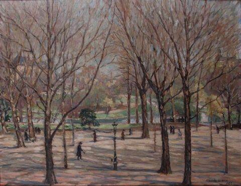 Le Parc d'Avroy à Liège by Marcel de Lince