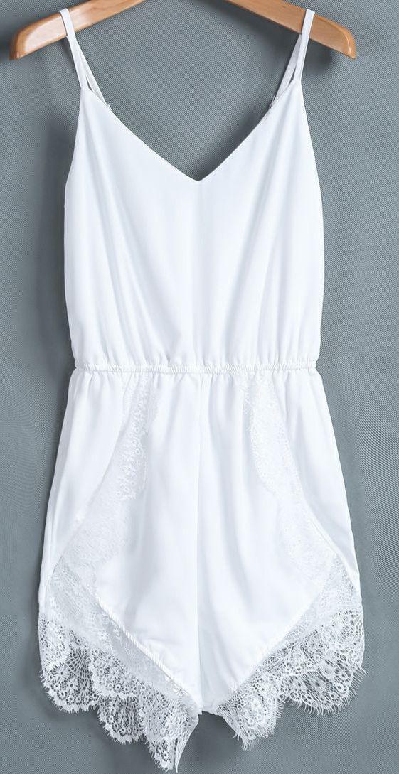 classic white romper :: zazumi.com