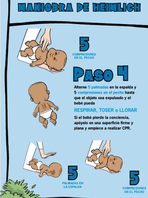 """Enfermería """"Salud del Niño"""": MANIOBRA DE HEIMLICH EN BEBES Y NIÑOS"""