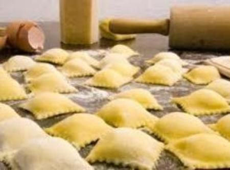 Authentic Italian Cheese Ravioli Recipe - DOUGH:  3 c flour   2 large eggs   2 tsp vegetable or olive oil   3/4 c warm water   1/2 tsp salt