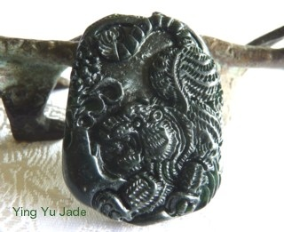 86 best ying yu jade images on pinterest jade bangle bracelet natural black jade tiger pendant mozeypictures Images