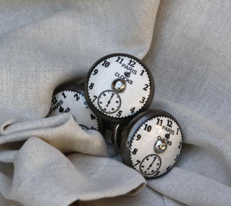 Clock detailed door knob – 4cm