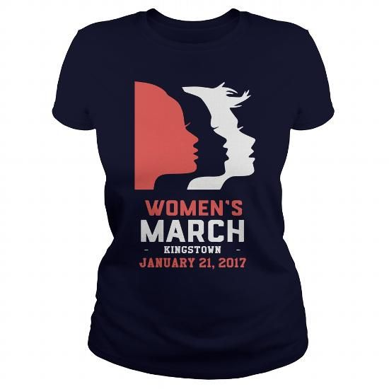 Womens March KINGSTOWN Shirt - January 21, 2017 LIMITED TIME ONLY. ORDER NOW if you like, Item Not Sold Anywhere Else. Amazing for you or gift for your family members and your friends. Thank you! #january