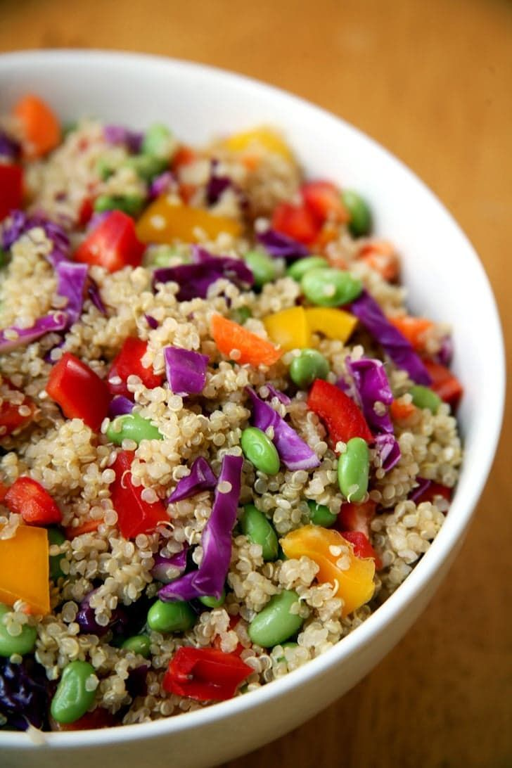 Pin for Later: 120+ Vegan and Gluten-Free Recipes (That Don't Taste Like It!) Sesame Ginger Quinoa Salad Get the recipe: sesame-ginger salad
