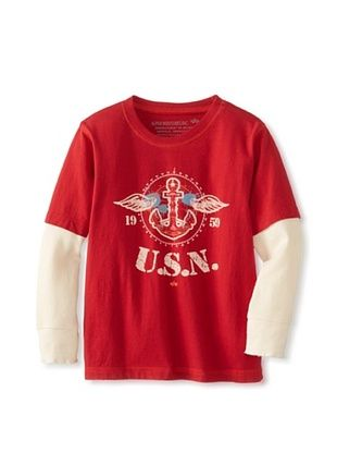 83% OFF Alpha Industries Boy's Anchor Twofer Tee (Red)