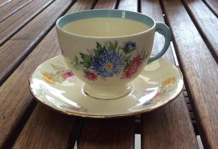 New Hall china cup(probably my favourite cup) with mixed up Alfred Meakin saucer
