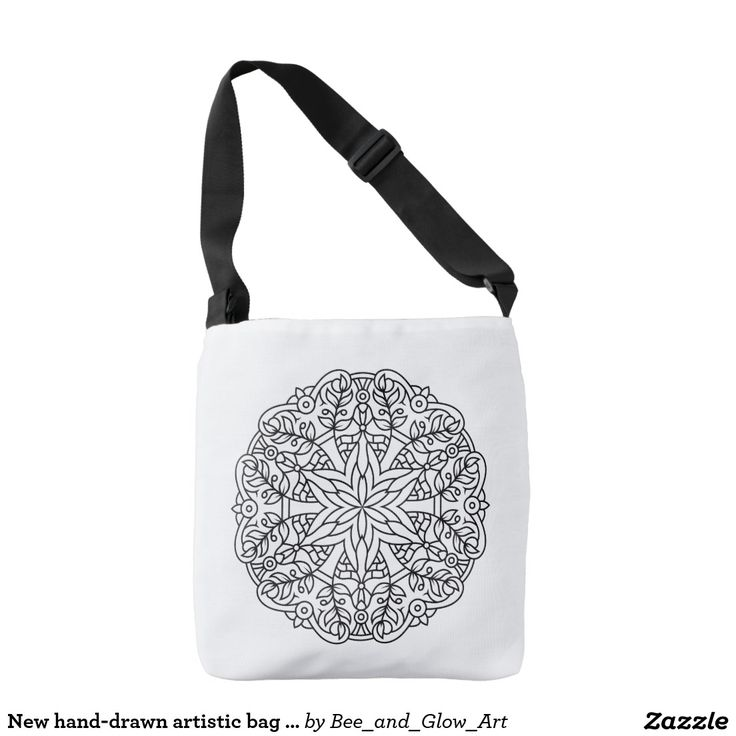 New hand-drawn artistic bag with Mandala