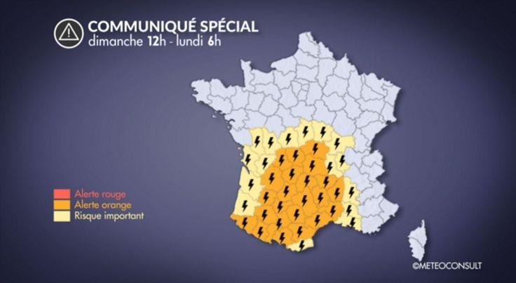 Orages : 23 départements en alerte ce dimanche