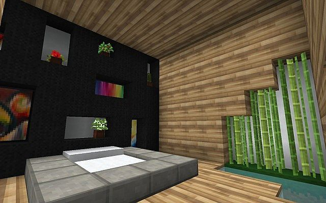 Minecraft modern bedroom minecraft modern bedroom first for Bedroom ideas on minecraft