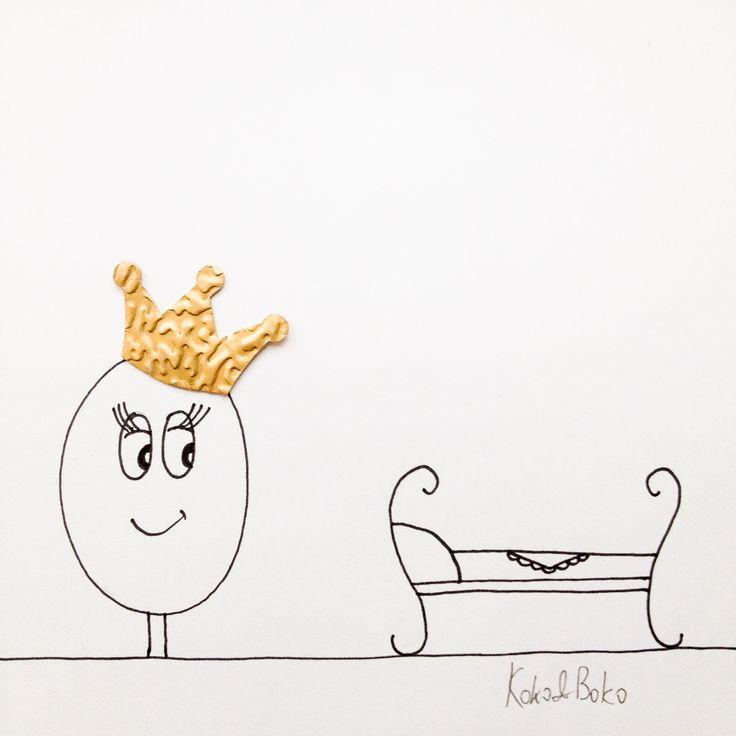 Ladies, don't forget to put on your crown every morning! :)  http://instagram.com/kokoandboko #kokoboko #koko #story #love #smile #happy #illustration #crown