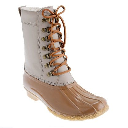 winter duck boots - J.Crew is an unexpected color.
