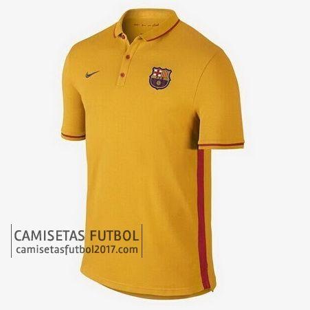 Polo de entrenamiento amarillo Barcelona 2015 2016 | camisetas de futbol baratas