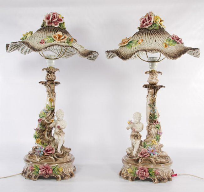 Capodimonte Porcelain Table Lamp : Images about capodimonte lamps on pinterest ea