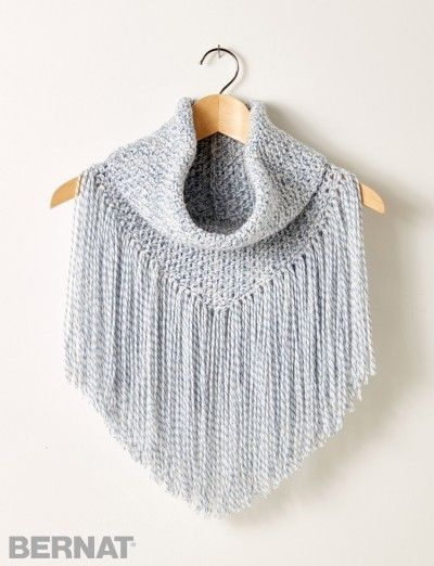 Cozy Fringed Cowl - Patterns | Yarnspirations