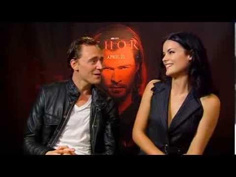 ~~Jaimie Alexander And Tom Hiddleston Talk Thor - YouTube~~