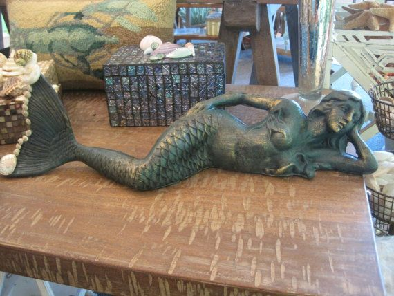 Beach Decor Cast Iron Mermaid
