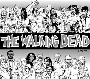 The Walking Dead - Robert Kirkman, Tony Moore, and Charlie Adlard  (so much better than the series)
