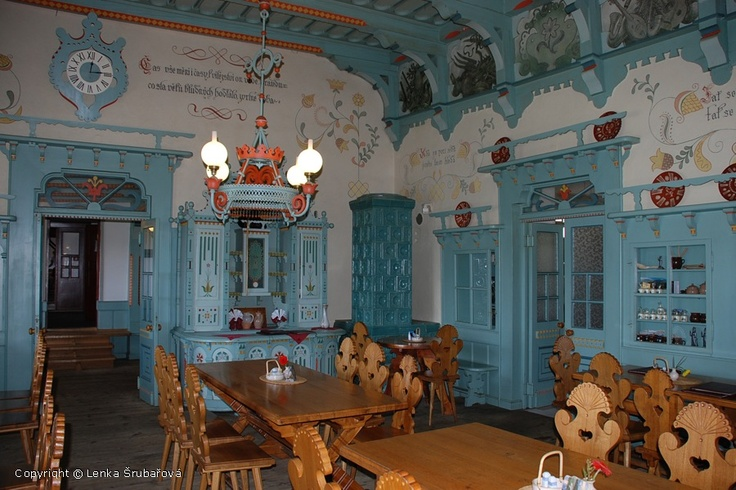 Beskydy mountains, Pustevny - Libušín, beautiful interior. Will come and visit in the fall!
