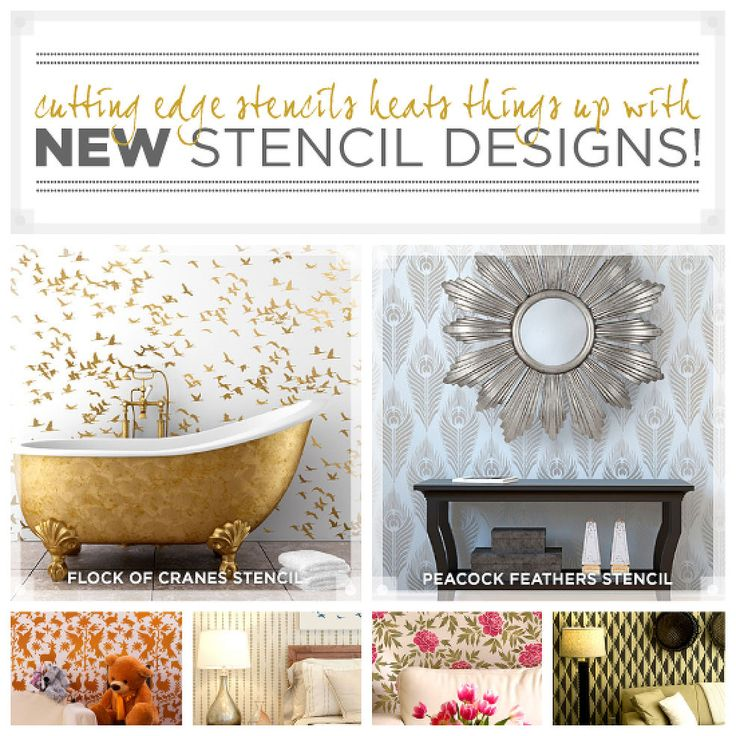 Cutting Edge Stencils Heats Things Up With NEW Stencil Designs
