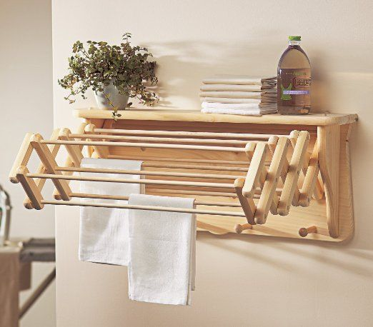 Amazon.com - Gaiam Size Null Wall Shelf Drying Rack - Laundry Storage Products