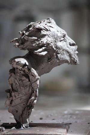 Christophe Charbonnel - Buste de faune (les faunes sont les fils de Faunus, troisième roi d'Italie)