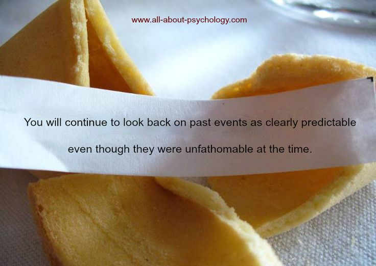 Psychology Fortune Cookie: Hindsight Bias! Via: www.all-about-psychology.com #psychology