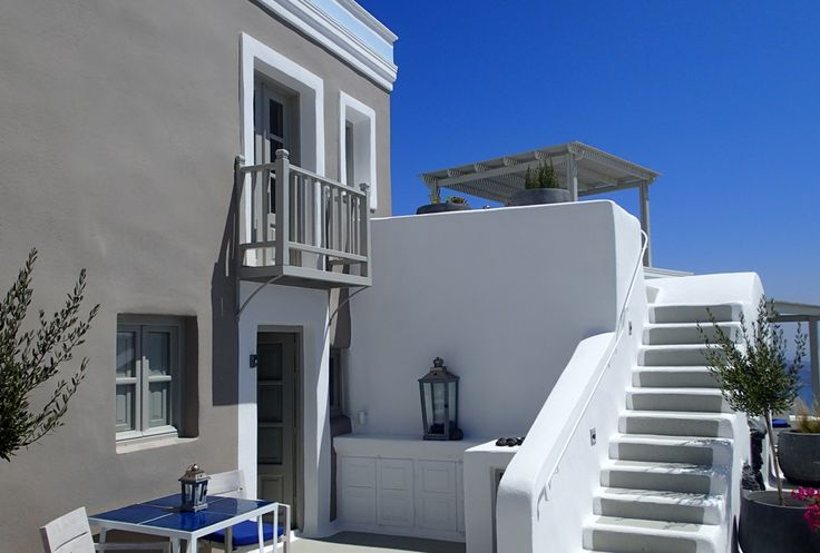 Every room and suite at Iconic Santorini is distinctly unique and offer personal veranda seating.