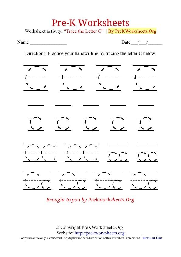 Kids Worksheets Pre K